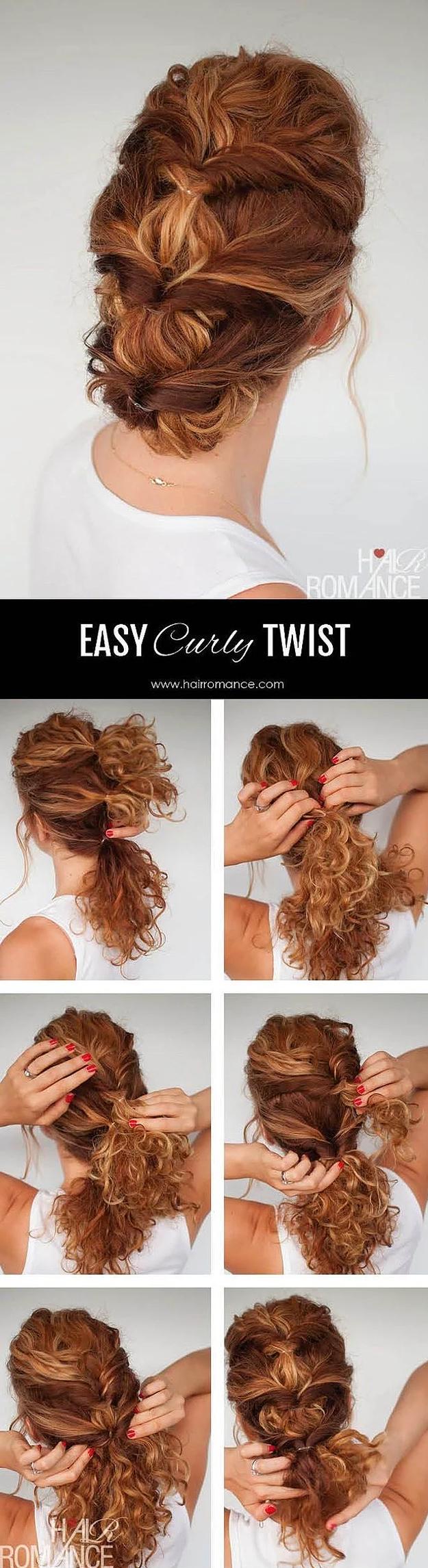 Как сделать быстро кудри на средней длины волосах