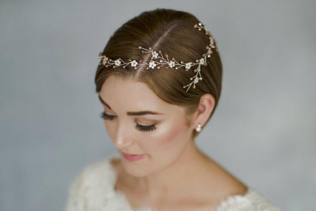 Örgü ile düğün saçları - taze ve özgün